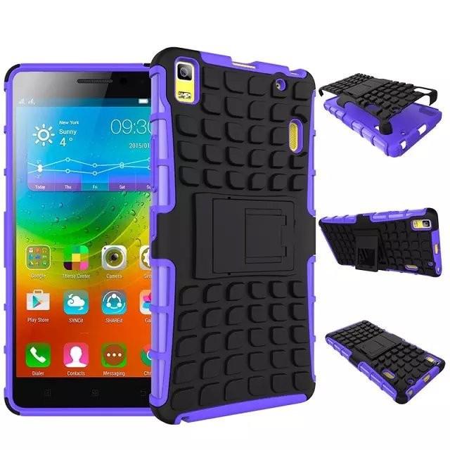 Чехол Lenovo A7000 / K3 Note / K50 k50a40 Противоударный бампер фиолетовый