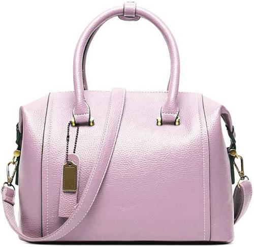 Стильная женская сумка из натуральной кожи Traum 7334-16, розовый