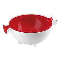 Набор коландер и салатник, 2 предмета Guzzini белый/красный 29250055