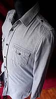 Рубашка серая котон River Island Размер ХС