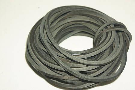 Шнур шкіряний (для шнурків) т. 3,5 мм. син.кор., фото 2
