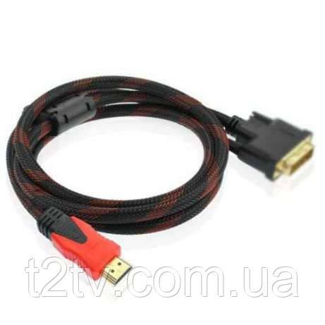 Кабель HDMI VGA 1,5м позолоченный усиленный