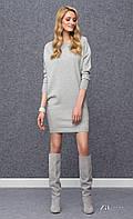Теплое платье-туника  серого цвета Julie Zaps