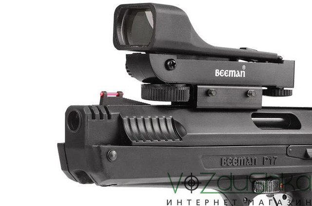 мушка и коллиматорный прицел пистолета beeman p17