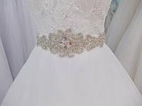 Свадебная брошь-аппликация (06) для свадебного платья (цвет - айвори)