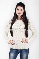Кофта свитер Джемпер вязаный Ева р.46 белый