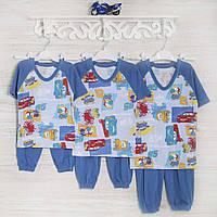 Пижама-мальчику 1-3-5лет, 1110KAY трикотаж-хлопок-рибана, в наличии 92,104,116  Рост