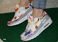 Кроссовки Nike Air Max женские с цветами