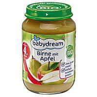 Babydream Bio Birne mit Apfel - Фруктовое пюре Яблоки с грушами, с 4 месяца, 190 г