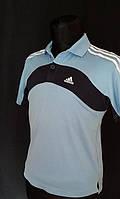 Фирменная футболка Adidas голубая Размер  ХS