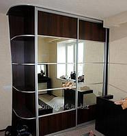 Шкаф купе по индивидуальным размерам с комбинированным фасадом
