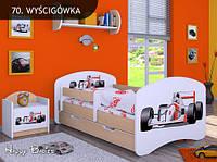 Кровать детская HAPPY L06 - 180/90/SZ - RÓŻ