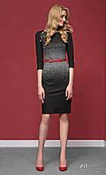 Женское трикотажное платье черного цвета с принтом Nubira Zaps