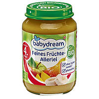 "Babydream Bio Feines Früchte-Allerlei - Детское пюре ""Фруктовый десерт"", с 4 месяца, 190 г"