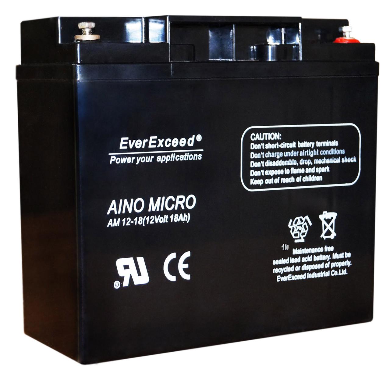 Аккумулятор для детского электромобиля 12V вольт 18 ah ампер