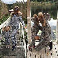 Детский теплый костюм / трехнитка, мех енота / Украина, фото 1