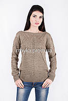 Кофта свитер Джемпер вязаный Паучек р.44 цвет Капучино