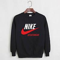 Свитшот черный Nike Sportswear ( красная галочка )