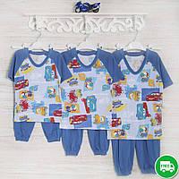 Детская пижама на мальчика 1-3-5лет, 2210лак трикотаж-хлопок-рибана, в наличии 92,104,116  Рост