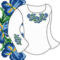Заготовка для вишивки дитячої сорочки Д-3габардин