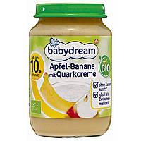 Babydream Bio Apfel-Banane mit Quarkcreme-Детское пюре яблоко-банан с нежным творожным кремом, с 10 мес., 190г