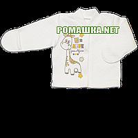 Детская кофточка р. 56 утолщенная с царапками демисезонная ткань КАПИТОН 100% хлопок ТМ Алекс 3221 Бежевый