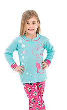 """Пижама или домашний костюм для девочки """"Пингвин в наушниках"""""""