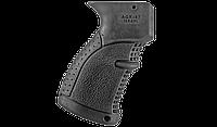 Рукоятка пистолетная FAB для АК47 обрезиненная,черная AGR47B, фото 1