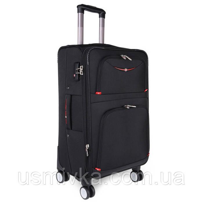 Большой качественный чемодан Swissgear
