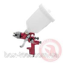 HVLP RED PROF Краскораспылитель 1,4 мм, верхний пластиковый бачок 600 мл INTERTOOL PT-0104, фото 3
