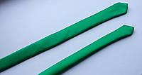 Галстук тонкий узкий параллельный ярко-зеленый