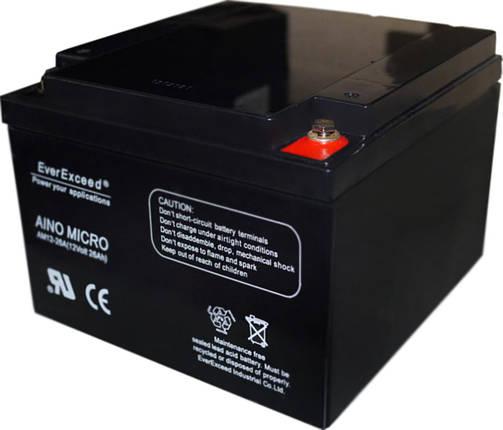 Аккумулятор 12V вольт 26 ah ампер, фото 2