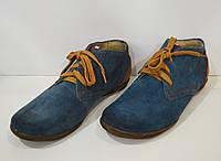 Женские синие ботинки демисезонные But S 905