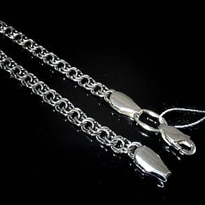 Серебряная цепочка, 550мм, 15 грамм, плетение Бисмарк, чернение, фото 2