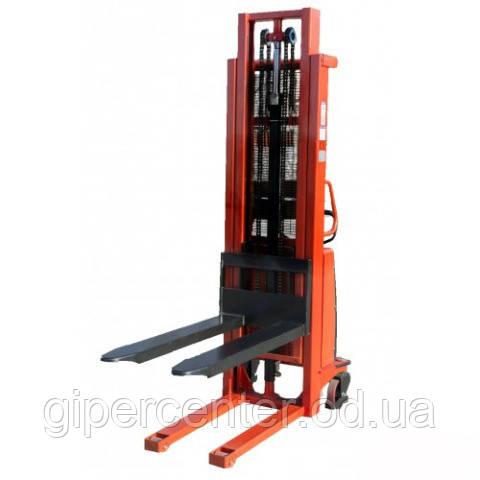 Штабелёр полуэлектрический ручной LEISTUNGLIFT S1530 (1500кг/3м)