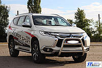 Передняя защита для Mitsubishi Pajero Sport 2016+  V1