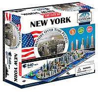 Объемный пазл Нью-Йорк, 840 элементов, 4D Cityscape (40010)