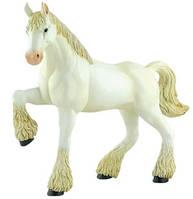 Клейдесдальская белая лошадь-тяжеловоз - объемный конструктор, 4D Master (26529)