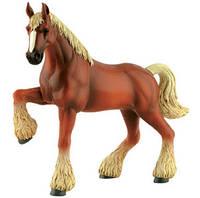 Клейдесдальская коричневая лошадь-тяжеловоз - объемный конструктор, 4D Master (26527)
