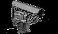 Приклад FAB для AK с держателем магазина, черный (без буферной трубы) GKMAGB, фото 1