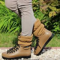 Модные иликоновые ботинки 085