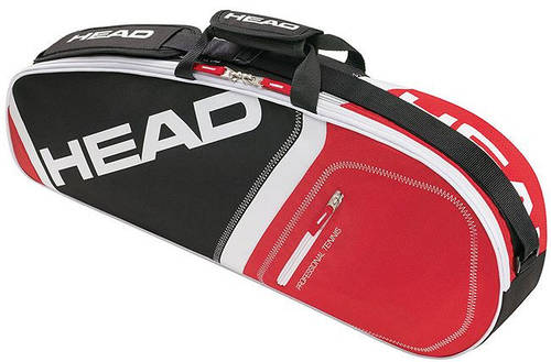 Черно-красная сумка для большого тенниса  на 3 ракетки 283355 Core 3R Pro BKRD HEAD
