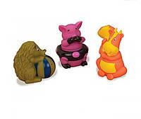 Трио брызгунчиков: поросенок, корова, ёж, набор для игры в ванной, Battat (BX3113GTZ-2)