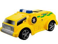 Автомодель серии GoGears Спецслужбы, желтая (свет, инерционный механизм), Bburago (18-30350-2)
