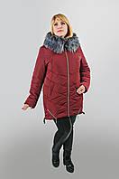 Молодежная куртка Современная  размеры   48, 50, 52, 54, 56, 58 бордовый