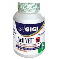 GIGI Acti Vet хондропротектор (глюкозамин, хондроитин) для собак 90 табл.(15кг)