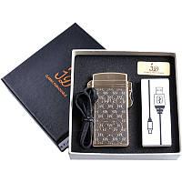 Зажигалка подарочная (Электроимпульсная, USB) №4760-5