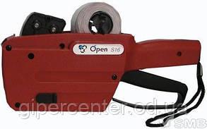 Двухстрочный этикет-пистолет Open Data S16 - набор (+1валик +4 рулона)