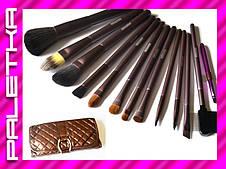 Проф. набор кистей MEGAGA для макияжа 13 штук #3 (Brown)