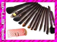 Проф. набор кистей MEGAGA для макияжа 13 штук #4 (Pink)
